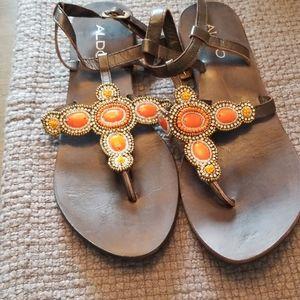 Aldo embellished sandals size7.5